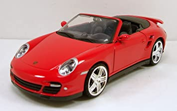 MotorMax Porsche 911 Turbo Cabriolet 1:24 scale diecast model car Red M73