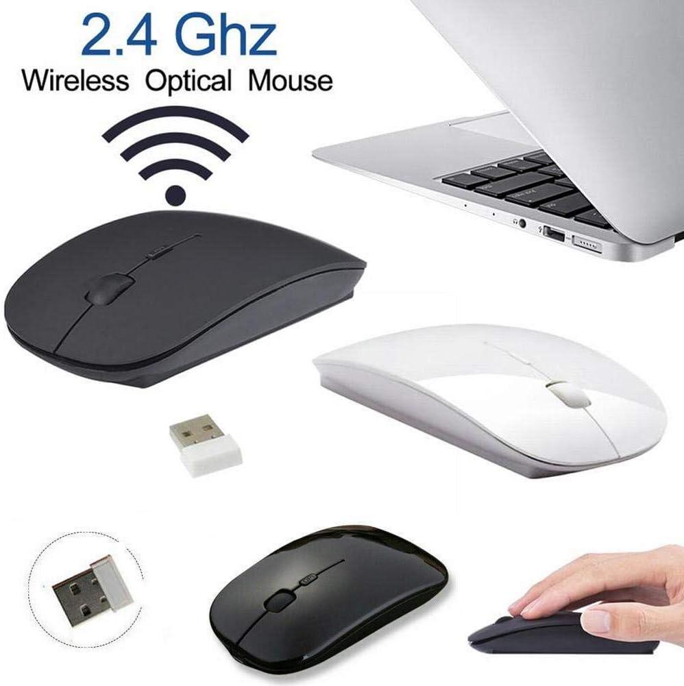 ADHG Souris sans Fil Ultra Mince avec récepteur USB Souris sans Fil Super Minces Portables adaptées pour PC Portable Ordinateur de Bureau Ordinateur de Bureau 10 m 2.4G Green