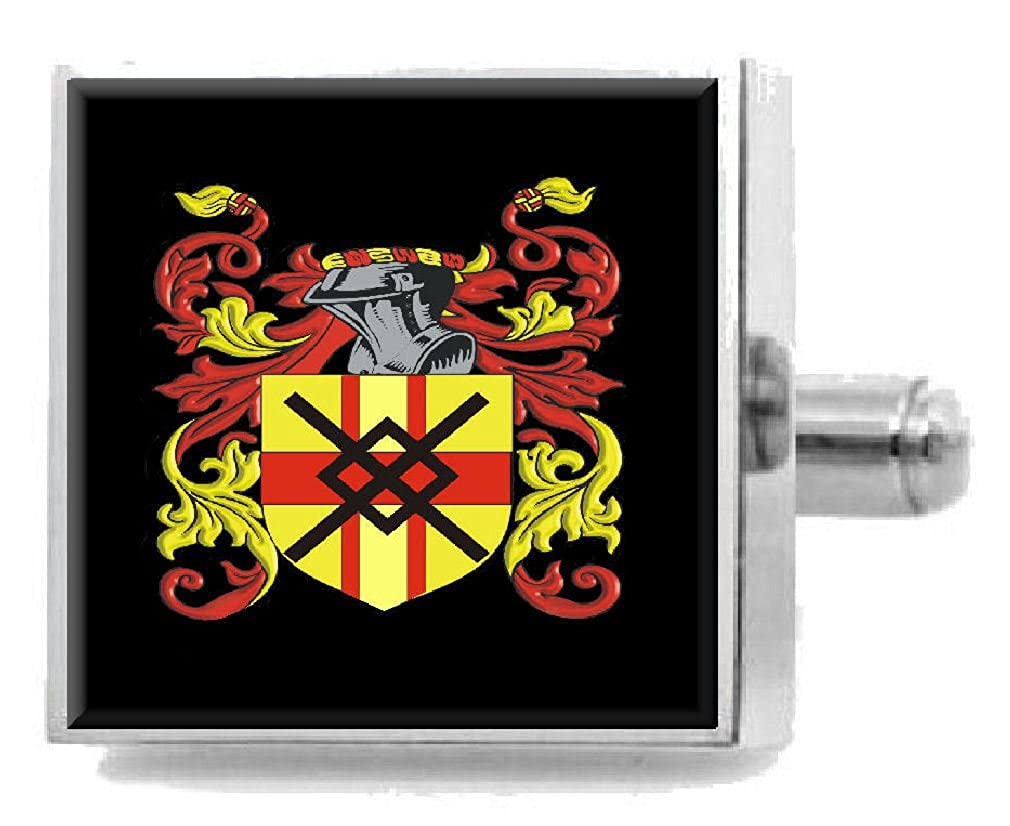Select Gifts Scofield England Heraldry Crest Sterling Silver Cufflinks Engraved Box