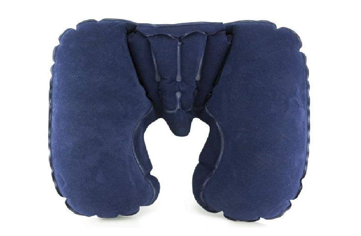 Lumaland Comfort Reiseset Nackenh/örnchen Reisekissen aufblasbares Nackenkissen in verschiedenen Farben Navy Blau