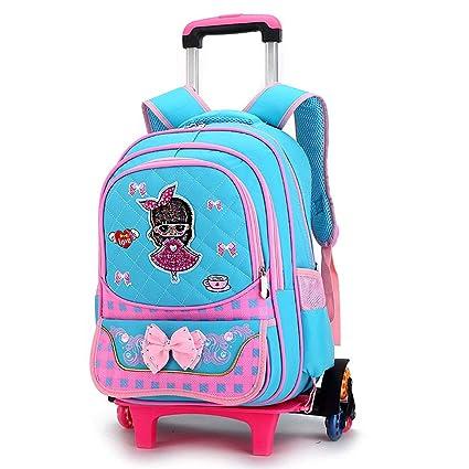 AXDNH Bolsa de Carro de Gran Capacidad niño niña Mochila de Nylon Escuela Primaria Desmontable de