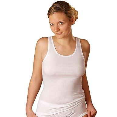 009c3b5a408d56 HERMKO 1310 5er Pack Damen Unterhemd aus 100% Baumwolle bis Größe 68/70