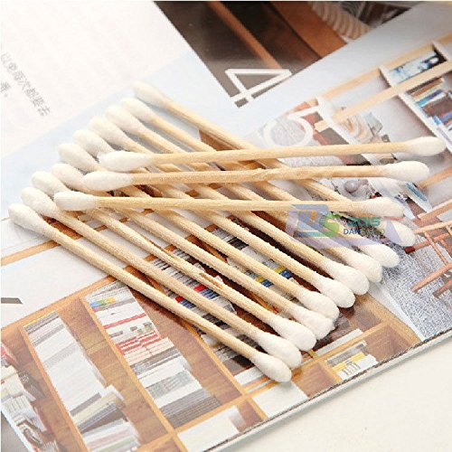 800 Pcs Double Head Wooded Disposable Medical Cure Health Cotton Swab Tip sticks
