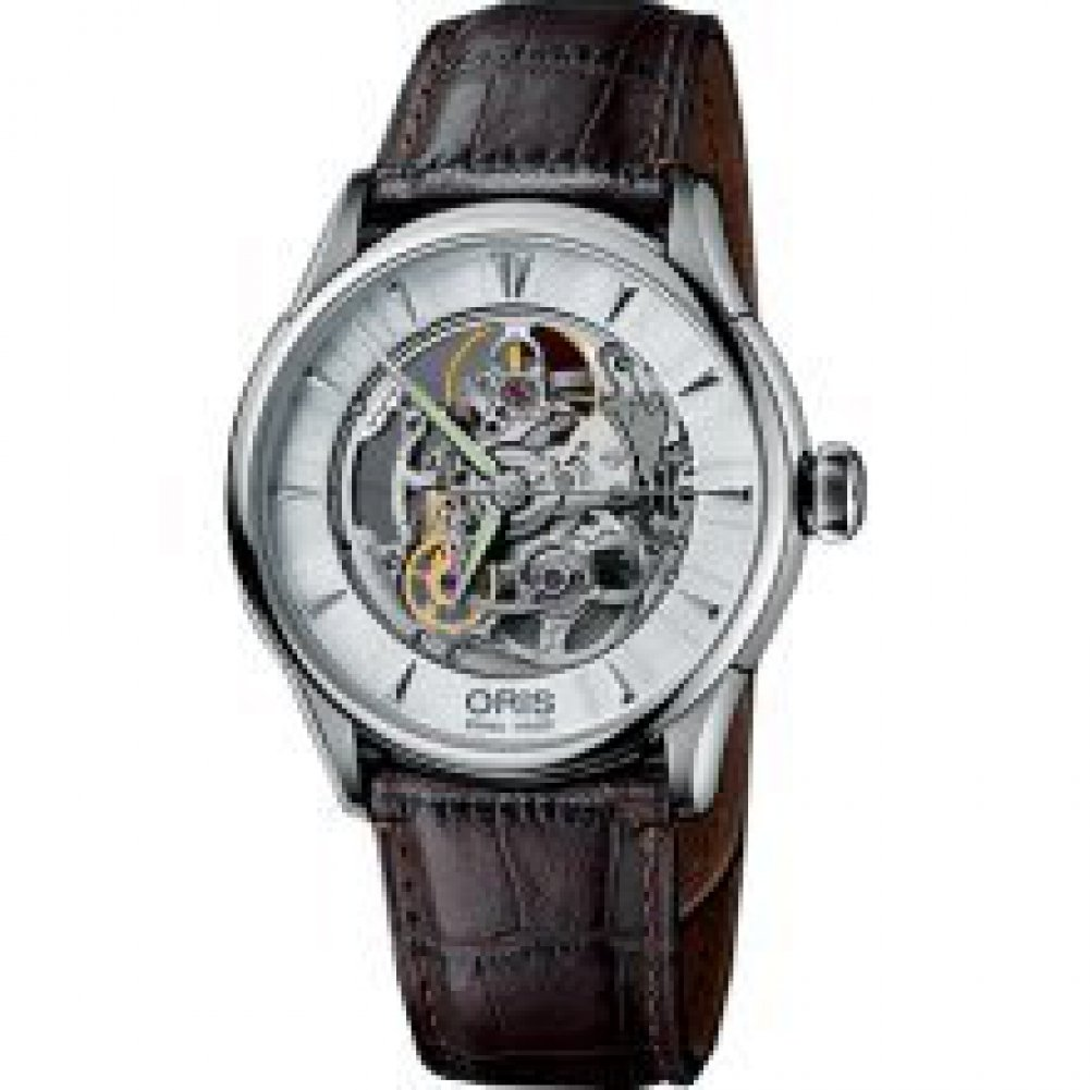 オリス Oris Artelier Automatic Skeleton Dial Stainless Steel Mens Watch 73476704051 [並行輸入品] B01AX2Z7ZW