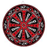 Red Biker Throwing Knife Target Dart Board