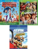 Comic Adventure Muppets Movie Pack Favorites Cloudy with a Chance of Meatballs Animated Blu Ray + Alvin Road Chip Chipmunks awesome Family Triple movie Set