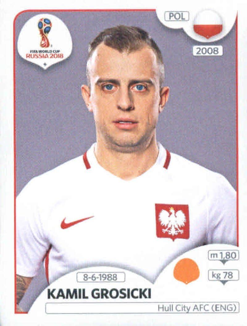 panini 2018 world cup sticker number 604 kamil grosicki