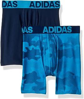 eea0ca4cb8 adidas Boys   Youth Sport Performance Climalite Boxer Brief Underwear (2- Pack)