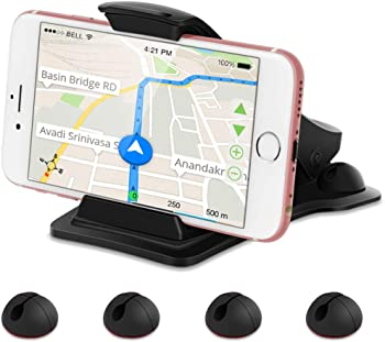 Leelbox Car Mobile Phone Mount with 5 Cable Clips and Pad