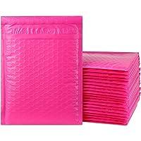 iMBAPrice 25-pack # 0(15,2x 25,4cm) de couleur ROSE VIF autoadhésives Poly enveloppes à bulles rembourré d'expédition (total 25sacs)