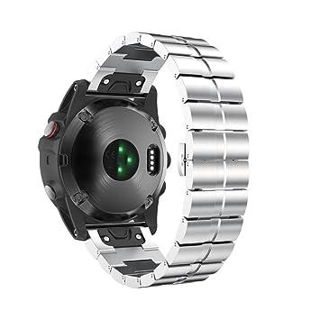 Bracelet en acier inoxydable de rechange pour GPS Garmin Fenix 5 x Watch Bracelet Quick Release