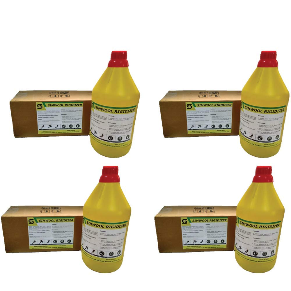 4 Pcs of Simwool Rigidizer - Coating for Ceramic Fiber Blanket - 1 Gallon