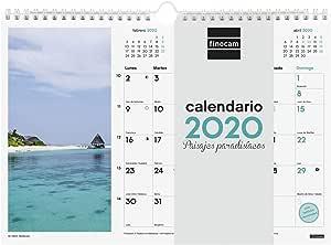 Finocam - Calendario de pared 2020 Imágenes Espiral 30x21 Paisajes Paradisíacos español: Amazon.es: Oficina y papelería