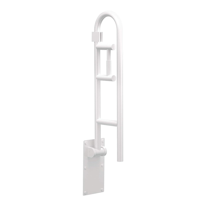 Moen R8962FDW Home Care 30-Inch Flip-Up Bathroom Grab Bar with Toilet Paper Holder, Glacier