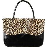 Rockabilly Anima de Leopardo Bolso, Leopardo marrón (Negro) - 22615