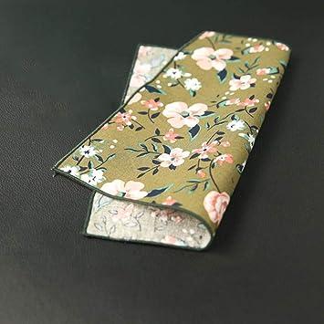 SKYyao Pañuelo de Bolsillo Hombres Chicas Print Bolsillo Toalla Floral Pecho Bufanda Banquete Vestido pañuelo algodón