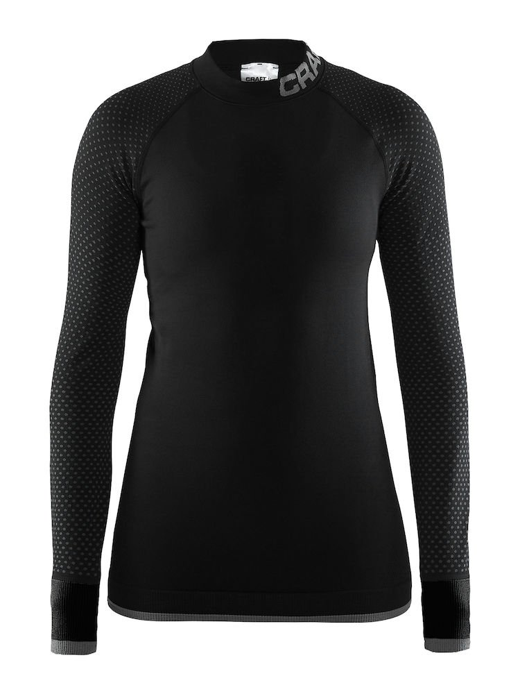 Black Granite Craft Sportswear Women's Warm Intensity Running and Training Fitness Workout Outdoor Sport Tight Fit Base Layer Long Sleeve Top