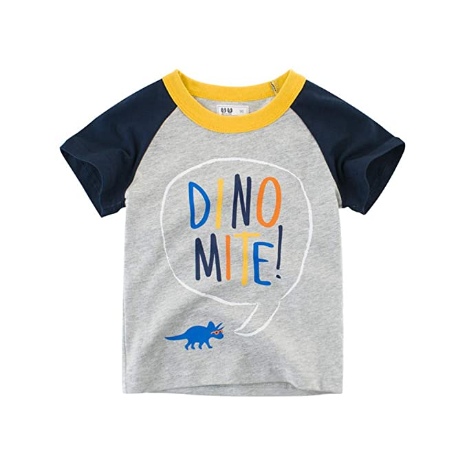 1e416ffea Amazon.com: ❤ Mealeaf ❤ Children Kids Baby Girls Boys Cartoon Print T-Shirt  Tee Tops Clothes 18Months -6Years: Clothing