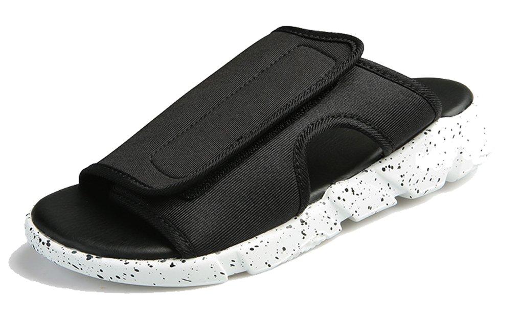 Femaroly Slippers for Men Sandal New Non-Slip Outdoor Open Toe Flip Flop Special Black/White 6.5M