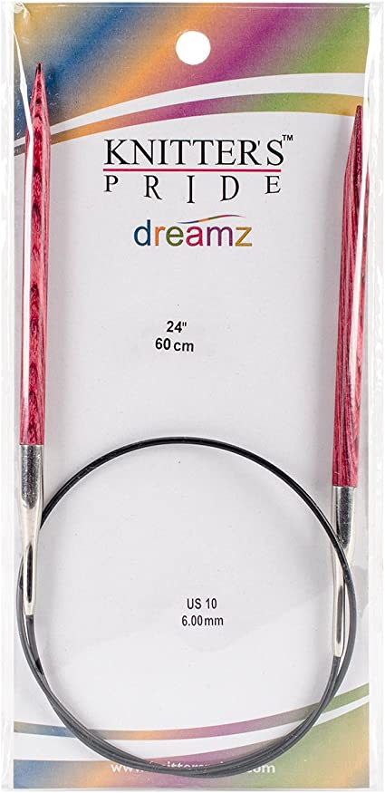 40 Knitters Pride 10//6mm Dreamz Fixed Circular Needles