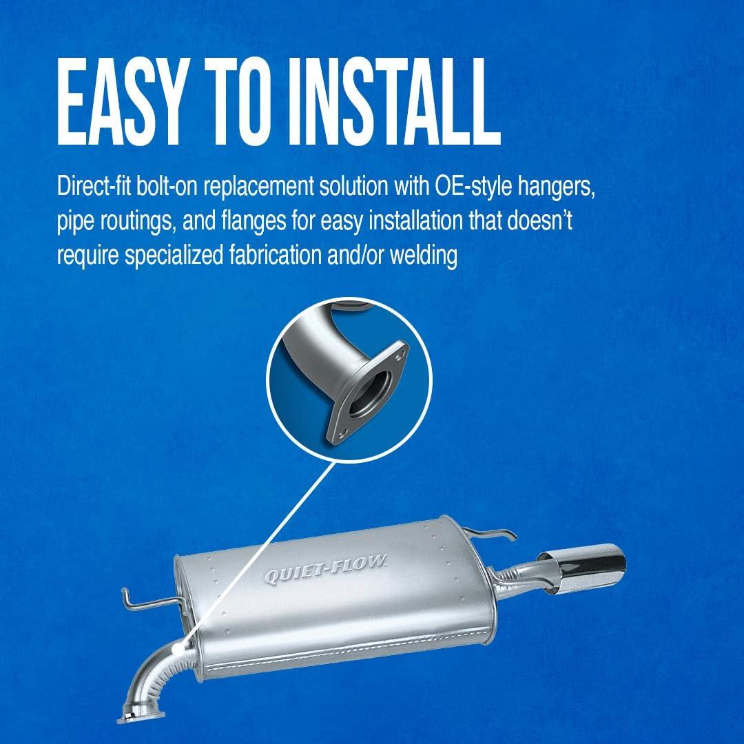 For Dodge Journey 11-19 Exhaust Muffler Quiet-Flow Stainless Steel Driver Side