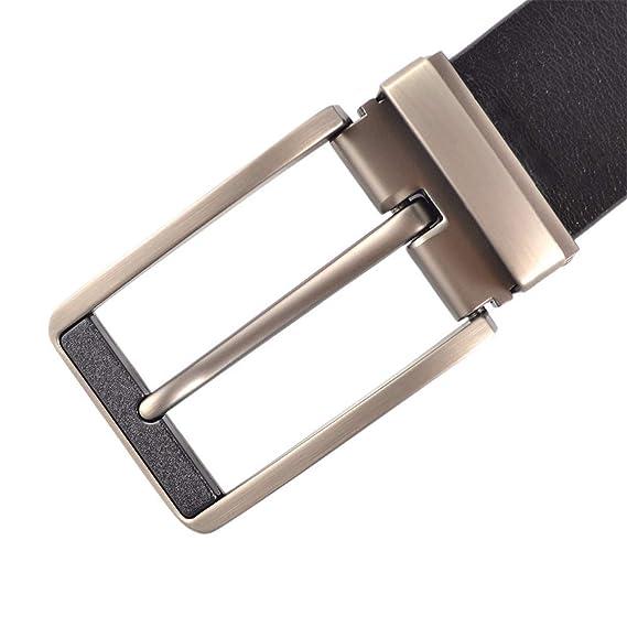 Belts Men Luxury Leather Belt Pin Buckle Black Business ...