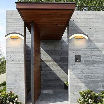 DEPAOSHJ Courtyard 2 Packs Lámpara de pared LED decorativa para exteriores Puede iluminar el área de 3m2-5m2 Lámpara de pared para exteriores a prueba de agua Pasillo exterior moderno Pasillo Iluminac: Amazon.es: