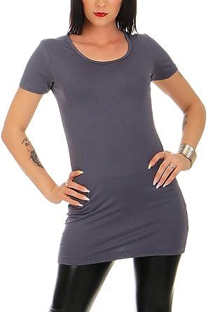 günstig bis zu 80% sparen offizielle Fotos Mellice - Damen Kurzarm Longshirt Longtop - 095