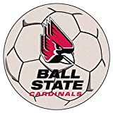 FANMATS NCAA Ball State University Cardinals Nylon Face Soccer Ball Rug