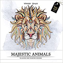 Buy Majestic Animals Colouring Books For Adults With Tear Out Sheets Adult Book Online At Low Prices In India