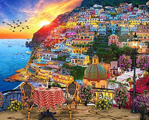 Springbok Puzzles - Positano Italy - 1000 Piece Jigsaw Puzzle - 24 by 30
