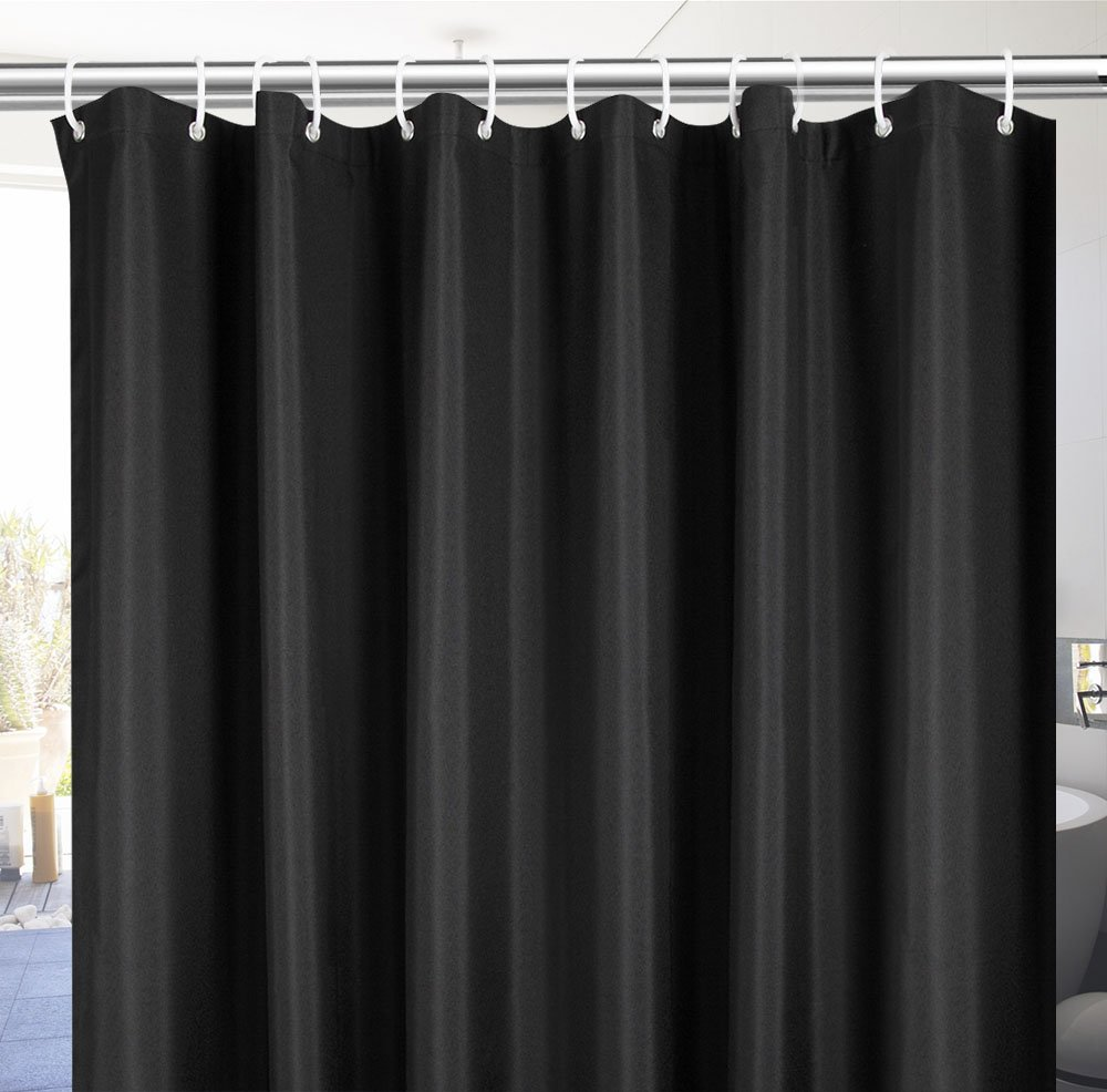 Thick Polyester Bath Curtain Durable for Home and Hotel UFRIDAY Elegant Fabric Shower Curtain Water-Repellent No More Mildew with Rust Proof Grommets Average Size 72 x 72 A06045 Burgundy