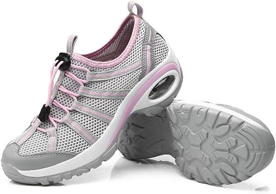 Mujer Zapatillas de Deporte de Verano Malla Casual Cuñas Zapatillas de Correr para Exterior Damas de amortiguación Entrenadores Ligeros Transpirables: Amazon.es: Zapatos y complementos