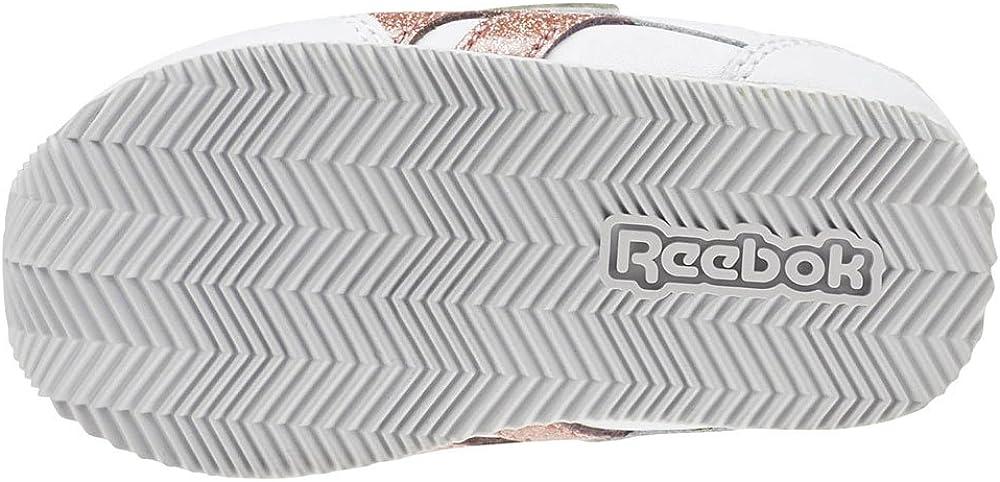 Reebok Royal Classic Jogger 2 Infants White//Rose Gold Sparkle Gr/ö/ße:22.5
