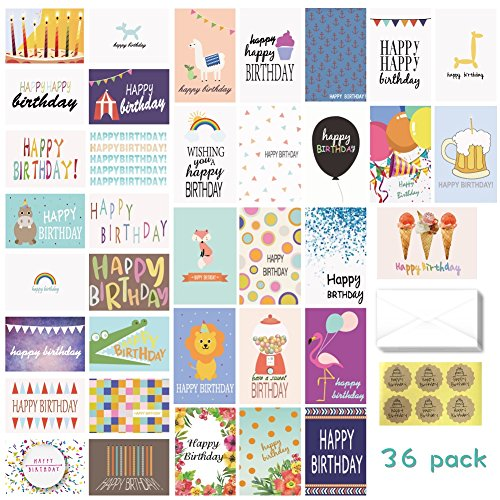 Birthday Card - 36-Pack Birthday Cards Box Set