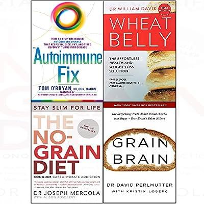 Autoimmune fix [hardcover], wheat belly, no-grain diet, grain brain 4 books collection set