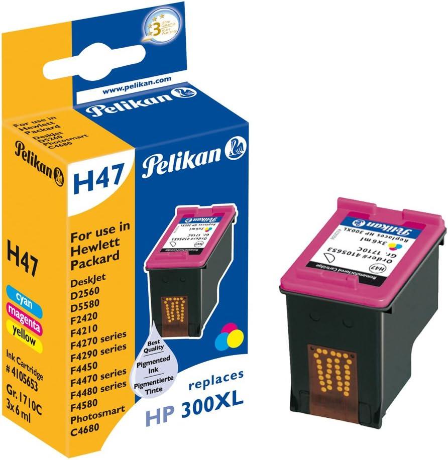 Pelikan HP 300 XL - Cartucho inkjet (para HP DeskJet D1600, D2560, D5500 Serie, 3 x 6 ml) tricolor: Amazon.es: Oficina y papelería