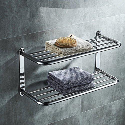 HOMEE Bathroom Stainless Steel Shelf Bathroom Towel Rack,60cm