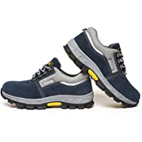 MagiDeal Men's Work Safety Shoes Steel Toe Puncture Proof Breathable Footwear