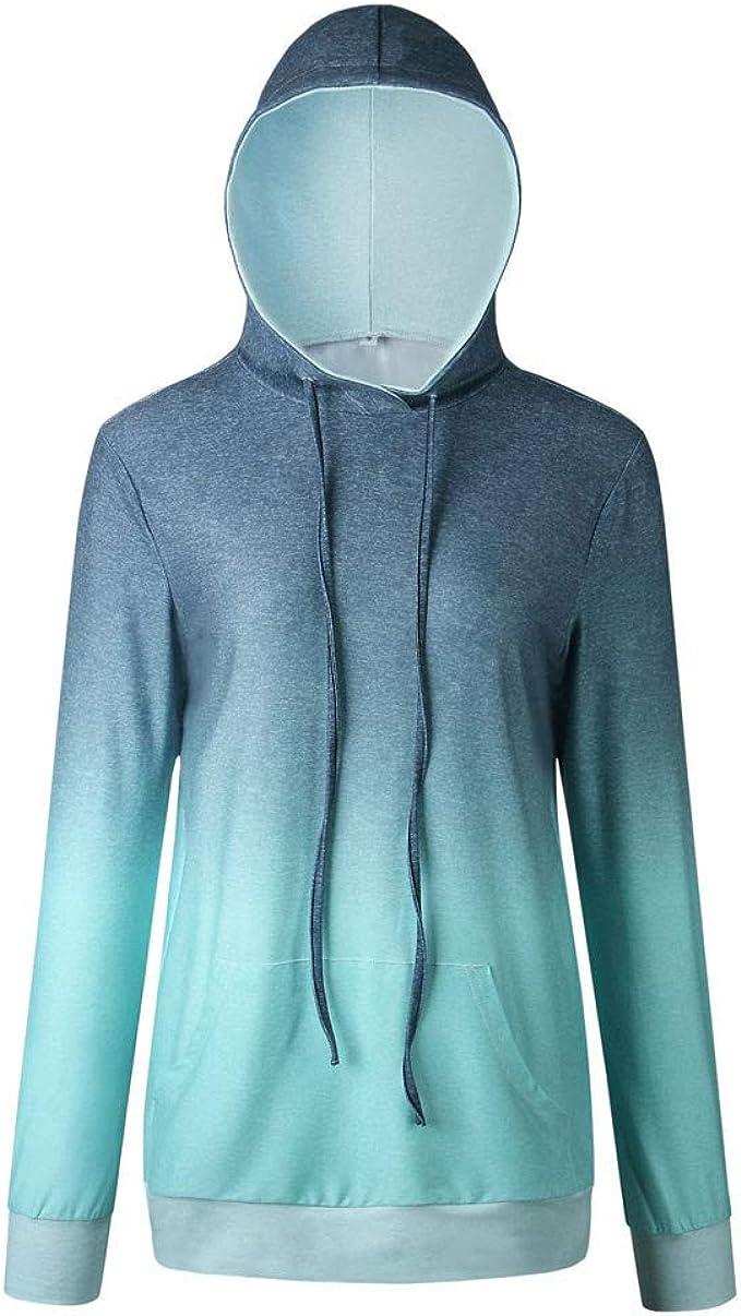Fubotevic Womens Long Sleeve Button Plain Fall Winter Loose Pullover Sweatshirt