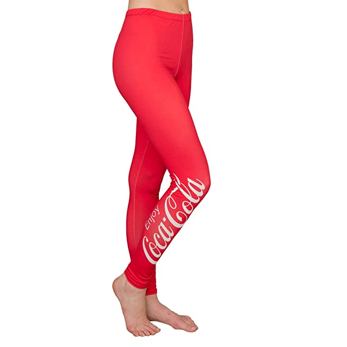 7fab48bed1 Coca Cola Coke Red Women s Leggings at Amazon Women s Clothing store