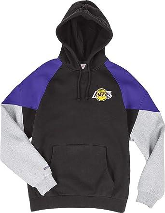 5063b499f Mitchell & Ness Los Angeles Lakers Black Purple Trading Block Hoody Hoodie  Sweater Herren Mens: Amazon.co.uk: Clothing