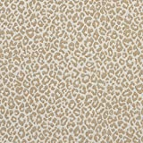 leopard upholstery fabric - A592 Beige Leopard Woven Textured Upholstery Fabric By The Yard