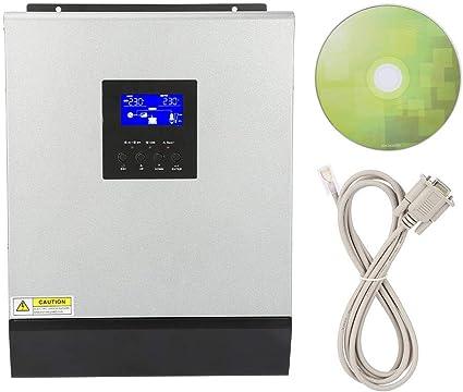 3KVA 2400W Cargador inverso,Alta frecuencia Inversor de onda sinusoidal pura híbrida construida en un controlador solar 50A 24V