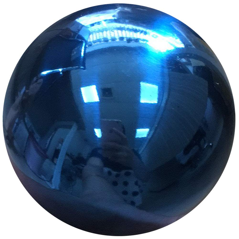 48 cm/19 inch Garden Sphere Mirror Gazing Ball,Blue Stainless Steel Polished Reflective Smooth Hollow Globe Ball,Durable Colorful and Shiny Decorations Addition to Garden Patio Yard Home