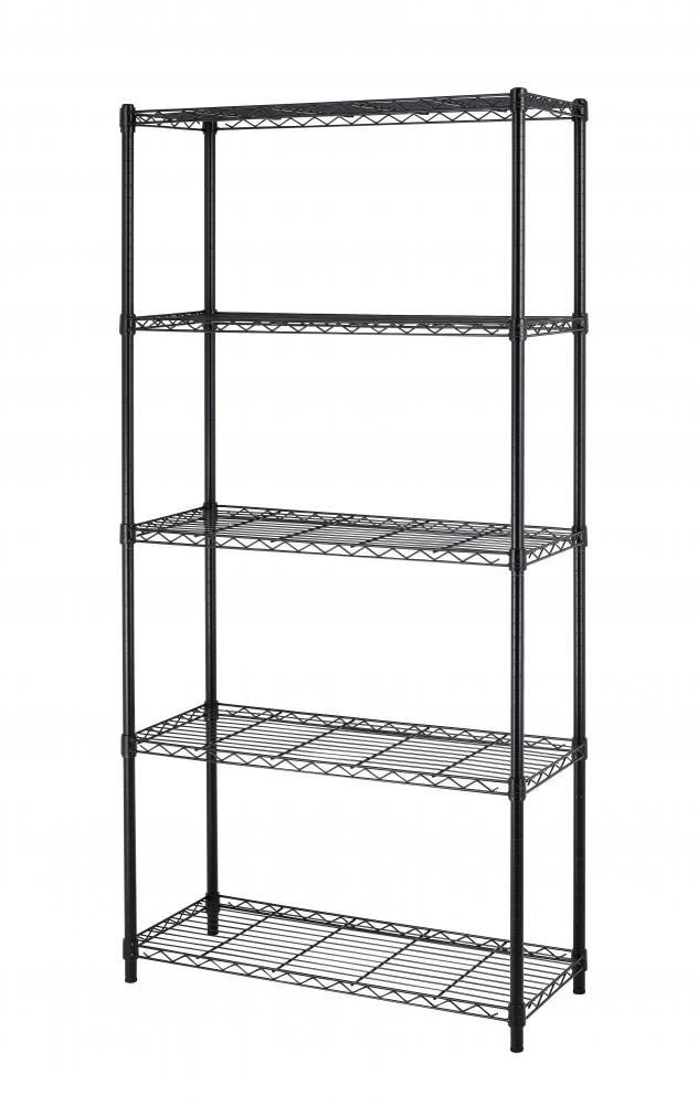5-Shelf Steel Wire Tier Layer Shelving 72''x36''x14'' Storage Rack