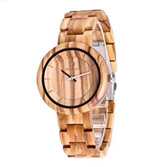 Redear Classic Unisex Eco Wooden Watches 100% Natural Olive Wood Watch Wrist Watch Olivewood