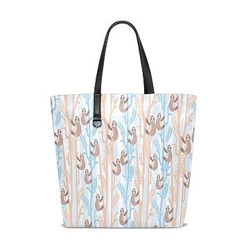 Amazon.com: Sloth Tree Tote Bag Purse Handbag Womens Gym ...