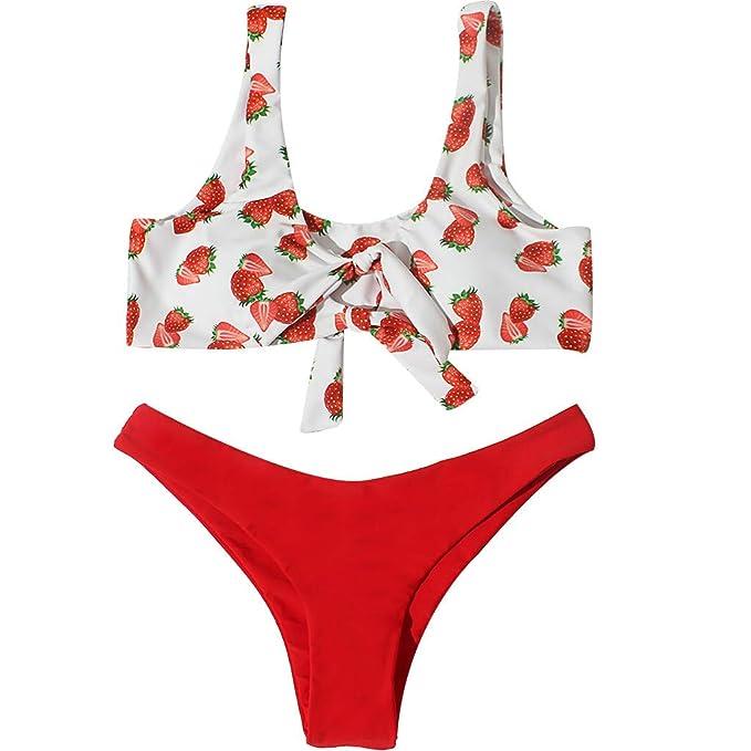 bañador Turbo Mujer,Pieza de Traje de baño para Mujer Bikini de Flora Traje de