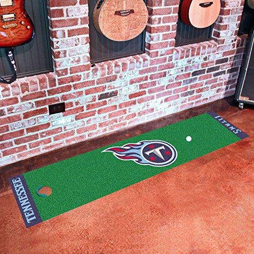 Fanmats Home Indoor sports Team Logo Tennessee Titans Putting Green Runner Mat 18